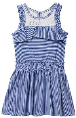 Baby Sara Stripe Ruffle Dress (Toddler & Little Girls)