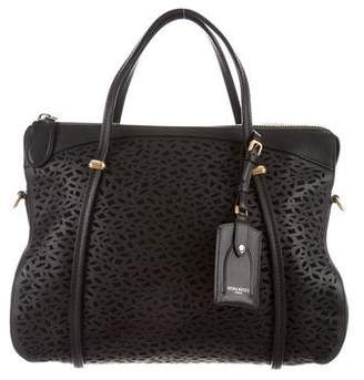 Nina Ricci Leather Laser Cut Satchel
