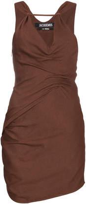 Jacquemus Sleeveless draped mini dress