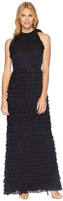 Tahari ASL Gown with Ruffled Skirt Women's Dress