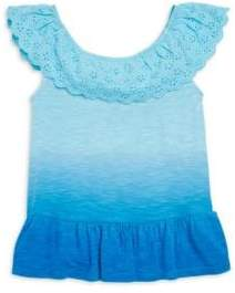Design History Toddler's & Little Girl's Dip Dye Top