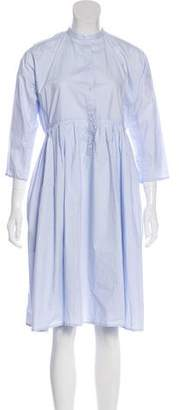 Sofie D'hoore Pleated Button-Up Dress w/ Tags