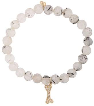 Sydney Evan Dog Bone charm beaded bracelet
