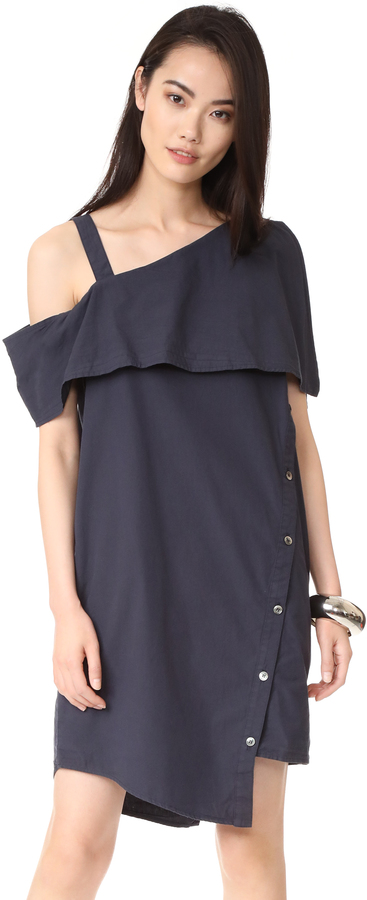 Clu Clu Asymmetrical Off the Shoulder Dress