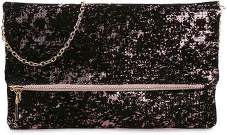 Urban Expressions Multimedia Clutch -Black/Pink - Women's