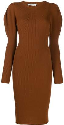 Circus Hotel ribbed knit fitted dress