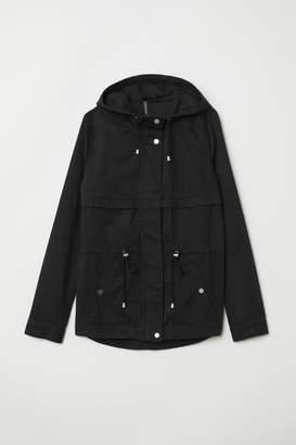H&M Short Cotton Parka - Black
