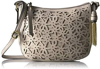 Bueno of California Faux Leather Cut-Out Flower Crossbody