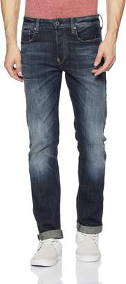 G Star Men's Defend Straight Fit Jean In Delm Stretch Denim