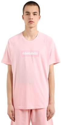 Napapijri Oversize Logo Cotton Jersey T-Shirt