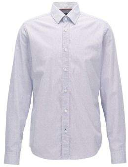BOSS Hugo Dotted Cotton Sport Shirt, Regular Fit Lance XXL Blue