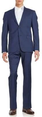 Lauren Silver Slim Fit Muted Glen Plaid Suit Set