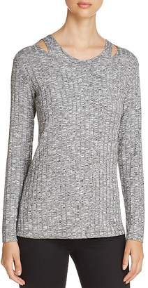 Design History Cutout Shoulder Ribbed Sweater $88 thestylecure.com