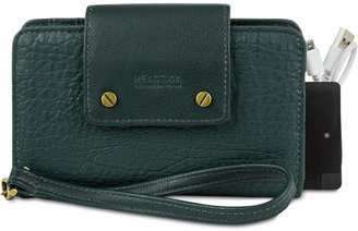 Kenneth Cole Reaction RFID Phone Wristlet with Portable Charger $68 thestylecure.com