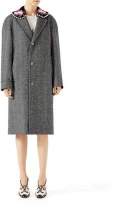 Gucci Herringbone Coat with Detachable Collar