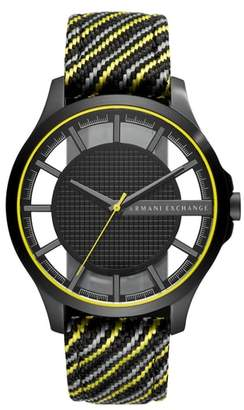 AX Armani Exchange Woven Strap Watch, 45mm
