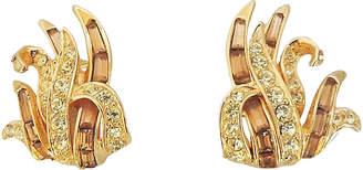 One Kings Lane Vintage Boucher Faux-Citrine & Topaz Earrings