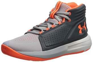 Under Armour Boys' Grade School Torch Mid Basketball Shoes, Grey (Mod Pitch Gray/Orange Glitch 102), 3 (35.5 EU)