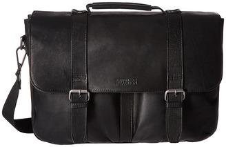 Kenneth Cole Reaction Flap Shot - Leather Portfolio $500 thestylecure.com
