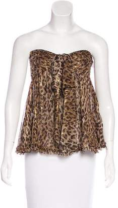 Dolce & Gabbana Silk Cheetah Print Top w/ Tags