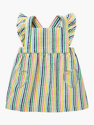 Boden Mini Baby Ruffle Pinafore Dress, Candy