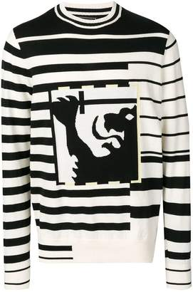 Tommy Hilfiger striped embroidered sweater