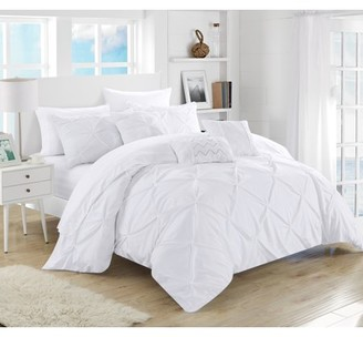 Off-White Chic Home Valentina 10 Piece Bed in a Bag Comforter Set, King