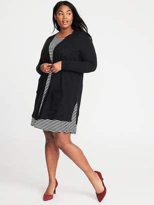 Old Navy Long-Line Open-Front Plus-Size Sweater