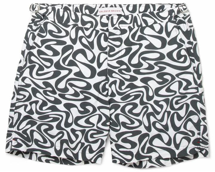 Orlebar Brown Bulldog Mid-Length Water-Print Swim Shorts