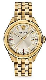 Versace Men's Glaze IP Goldplated Chronograph Bracelet Watch