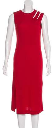 Maison Margiela Cutout Sleeveless Midi Dress