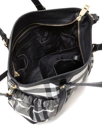 Burberry Beat Check Diaper Tote Bag