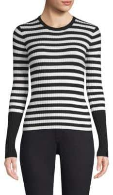 ATM Anthony Thomas Melillo Striped Wool Crewneck Sweater