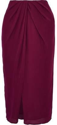 Nicholas Draped Silk Skirt