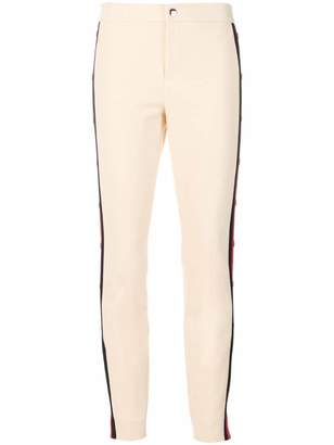 Gucci side striped slim trousers
