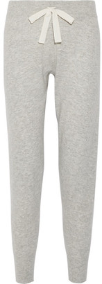 Sandra Knitted Track Pants - Light gray