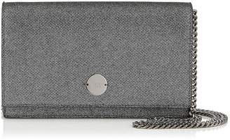 Jimmy Choo FLORENCE Anthracite Lame Glitter Clutch Bag