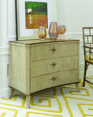 Global Views Quest 3-Drawer Light Oak Cabinet