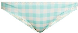 Solid & Striped The Elle Gingham Bikini Briefs - Womens - Light Blue