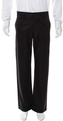 Issey Miyake Flat Front Relaxed-Fit Pants