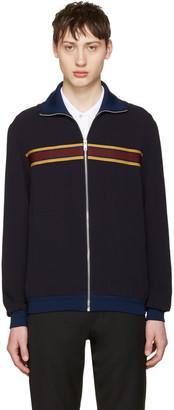 Alexander McQueen Navy Track Jacket $1,645 thestylecure.com