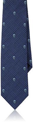 Alexander McQueen Men's Skull-and-Plaid Silk Jacquard Necktie $165 thestylecure.com