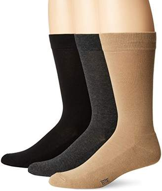 Hue Men's Solid Sock with Half Cushion
