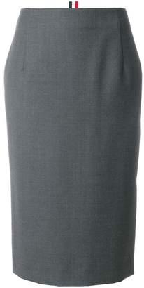Thom Browne Striped Wool Twill Straight Skirt