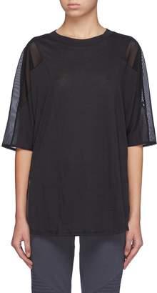 'Shore-Line' mesh back yoke side split T-shirt