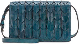 Patricia Nash Lanza Feather Leaves Leather Crossbody