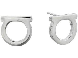 Salvatore Ferragamo Stud Gancio FQ Earrings