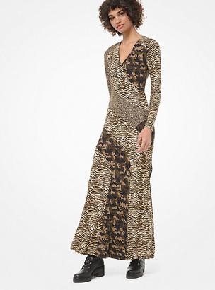 MICHAEL Michael Kors Animal-Print And Camo Stretch-Viscose Dress