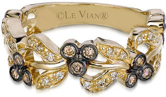 LeVian CORP LIMITED QUANTITIES Le Vian Grand Sample Sale 1/3 CT. T.W. Color-Enhanced Chocolate and Vanilla Diamond Ring