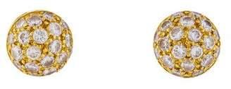 Cartier Pavé Dome Stud Earrings